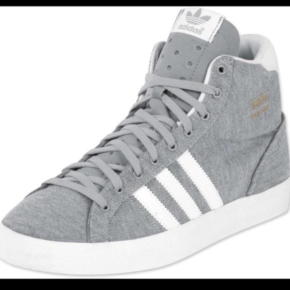 purchase cheap d92a3 5a4e5 Adidas grey basket profi sneakers womens size 7